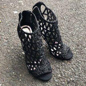 Open Toe dazzled booties!